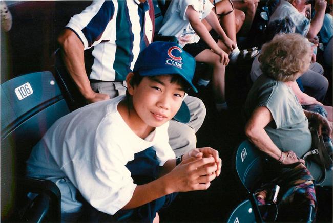 中学生時代の矢倉さん、アメリカにて。リトルリーグでプレーヤーだった事もあり、メジャーリーグ